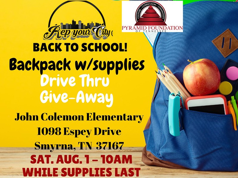Rep Your City Back to School Backpack Drive