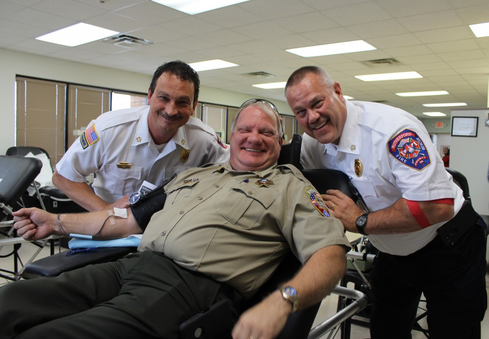 Mark Foulks, Chief Larry Farley and Chief Deputy Keith Lowery