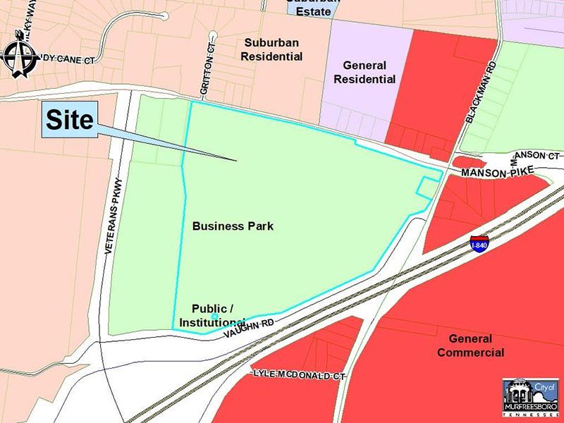 Future Land Use Business Park Site Map