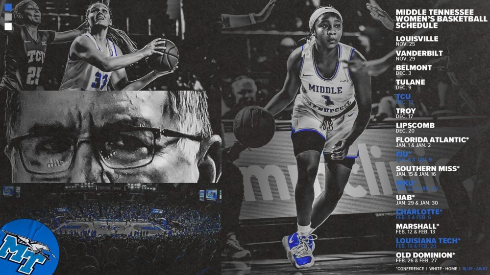 Middle Tennessee Women's Basketball Schedule