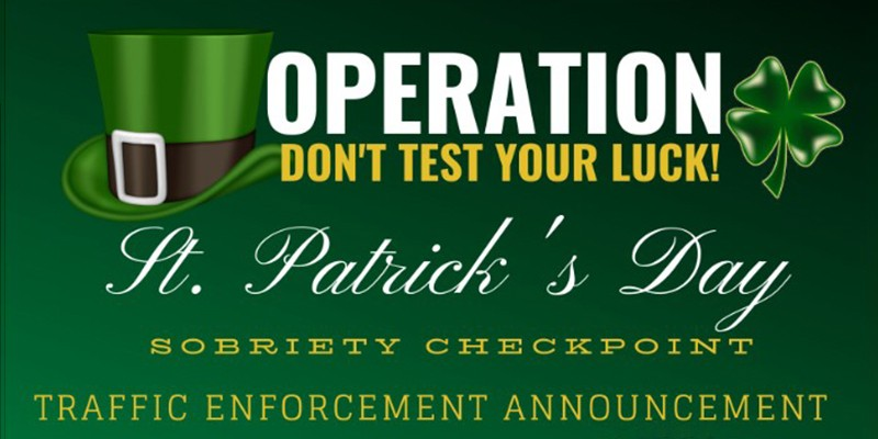 """Graphic for """"Operation Don't Test Your Luck"""""""