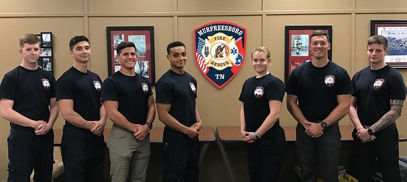 Murfreesboro Fire and Rescue Department recruits