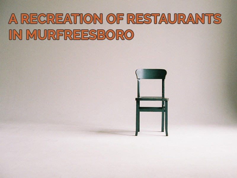 A recreation of restaurants in Murfreesboro featuring an empty chair.