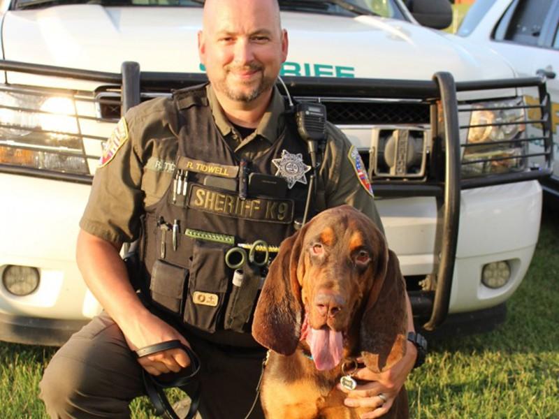 Rutherford County Sheriff's K9 Deputy Richard Tidwell and bloodhound Fred