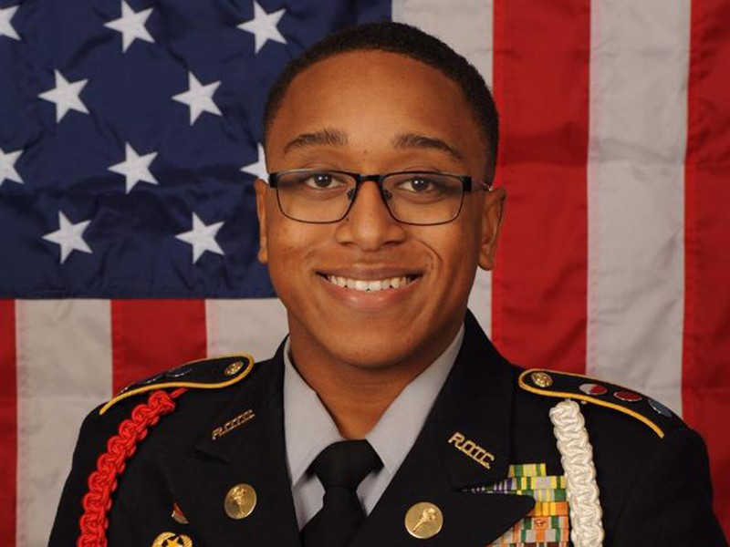 Riverdale High School JROTC Cadet Lt. Col. Christopher Curtis