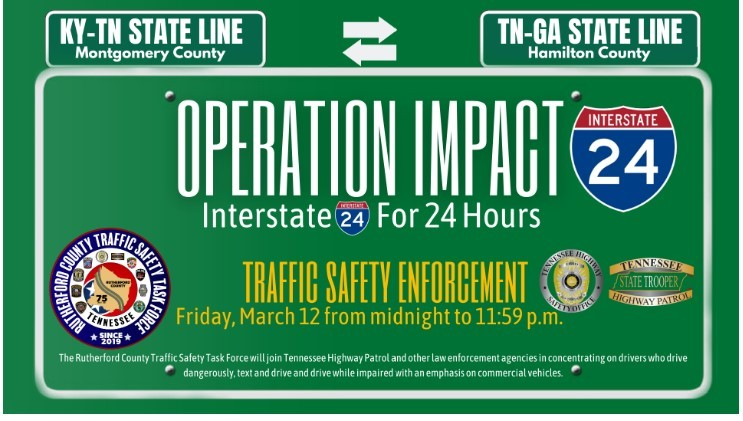 Rutherford County Traffic Safety Task Force Operation Impact