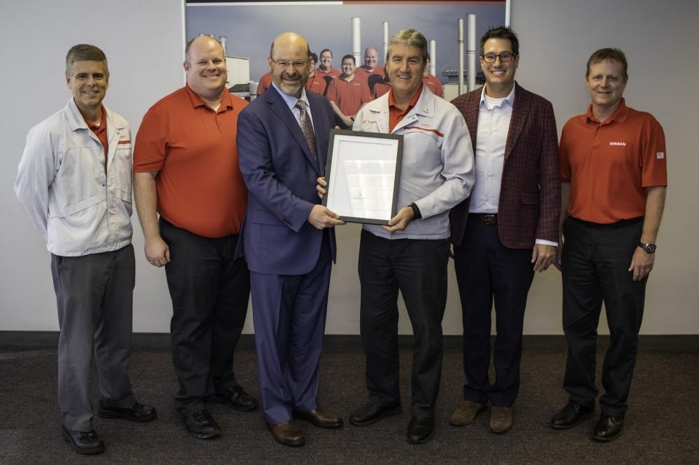 Nissan given TVA Carbon Reduction Award