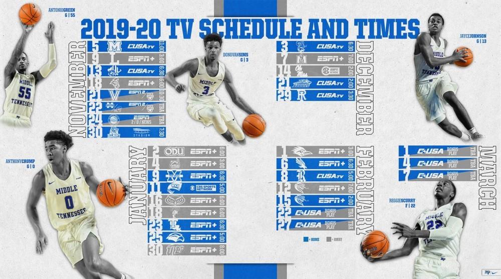 Blue Raider basketball schedule