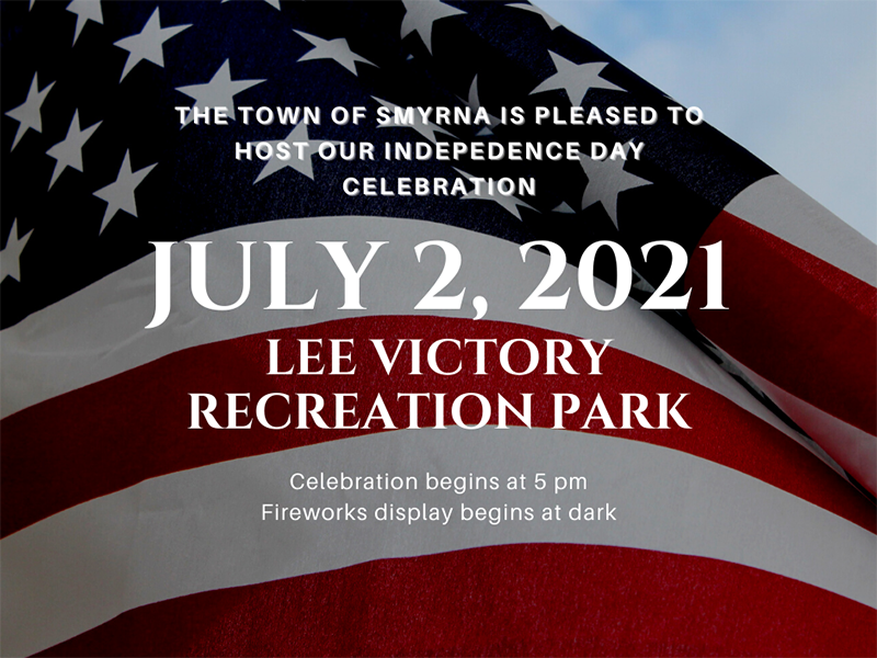 Smyrna's Independence Day celebration returns Friday, July 2, 2021, in Lee Victory Recreation Park, 110 Sam Ridley Parkway East.