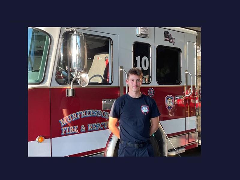 Pfc. Nolan McGril, a Murfreesboro firefighter