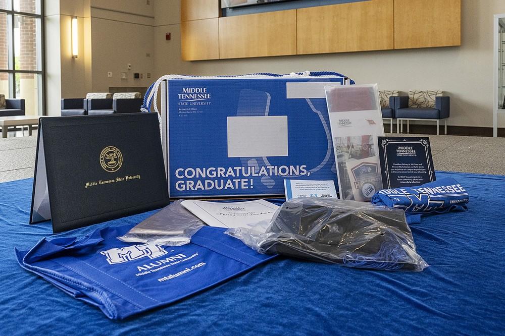 MTSU True Blue Graduation Box