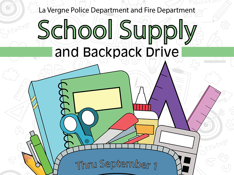 School Supply and Backpack Drive