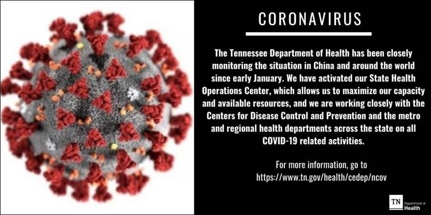 First case of coronavirus confirmed in Tennessee