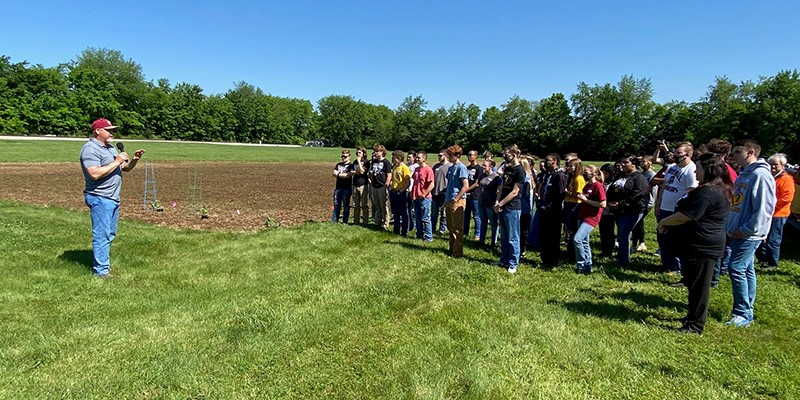 Riverdale High School students in the Future Farmers of America at Community Care of Rutherford County