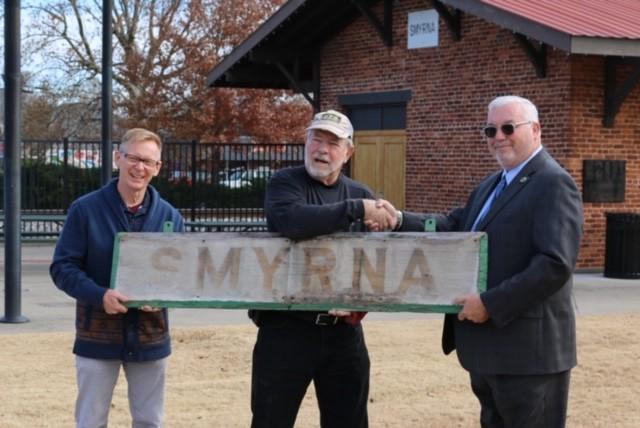 Smyrna Depot sign