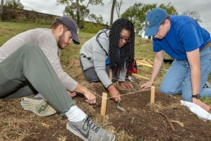 MTSU students dig for the past at Fort Negley Park