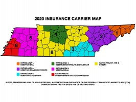 Obamacare map for Tennessee