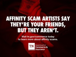 TDCI Issues Advisory to Raise Awareness About Affinity Fraud