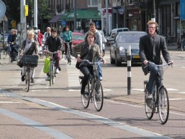 Helmetless cyclers in the Netherlands