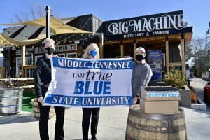 MTSU distributes Big Machine Distillery hand sanitizer