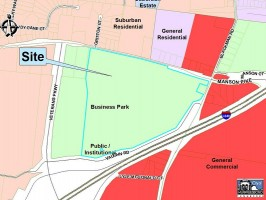 Future Land Use Business Park Site Map