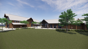 A rendering of Henry Horton State Park's new visitor center