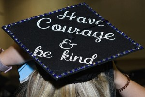 An MTSU graduate's personalized mortarboard