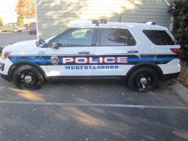 A Murfreesboro man is accused of all four tires on an MPD SUV.