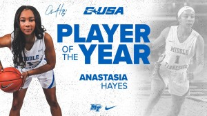 Middle Tennessee standout Anastasia Hayes has been named the Conference USA Player of the Year
