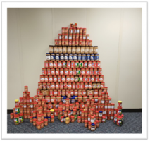 This is what 1,575 pounds of peanut butter looks like