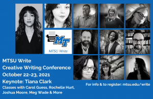 MTSU Write's annual Creative Writing Conference on Oct. 22 and Oct. 23