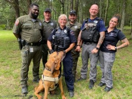 Rutherford County Sheriff's Office rescue team and K-9