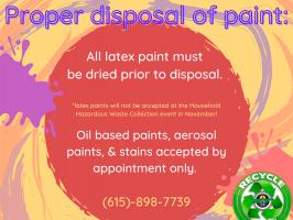 Proper Latex Paint Disposal