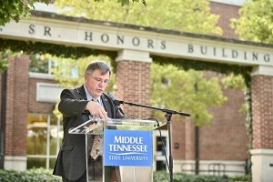 Dr. John Vile, dean of the MTSU's University Honors College