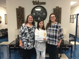 Blackman Elementary fifth-grader Erica Searcy won the national Junior American Citizenship Award