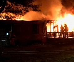 Smyrna Fire Department battle a blaze