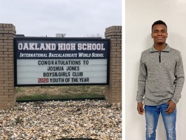 Oakland High School senior Joshua Jones