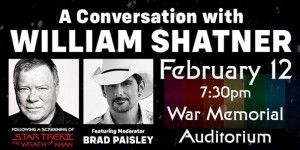 Brad Paisley and William Shatner are friends apparently