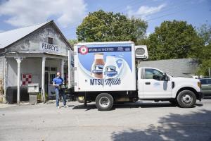 MTSU Milk truck