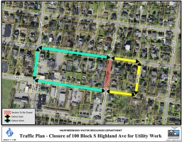 Highland Avenue Traffic Detour