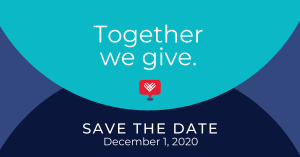 GivingTuesday Save the Date; Dec. 1, 2020