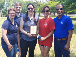 """DoubleTree by Hilton Murfreesboro """"Community Cares Group"""" receives Exchange Club """"Proudly We Hail"""" recognition."""