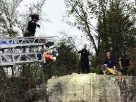 La Vernge Police bluff rescue