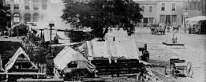 A Civil War encampment