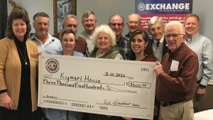 Kymari House Check Presentation from the Exchange Club