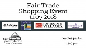 Fair Trade Shopping Event