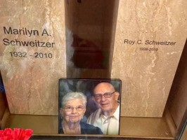 The mausoleum of Marilyn and Roy Schweitzer was burglarized.
