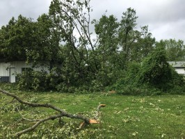 Storm damage from May 3, 2020