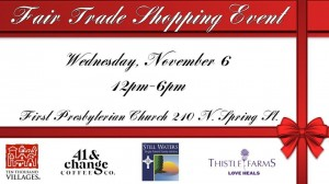 First Presbyterian Church's 2019 Fair Trade Shopping Event