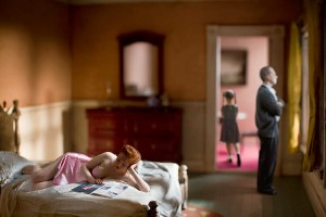 Pink Bedroom (Family) by Richard Tuschman